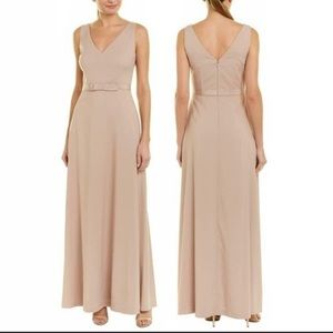 Kay Unger Beautiful Beige Full Length Dress